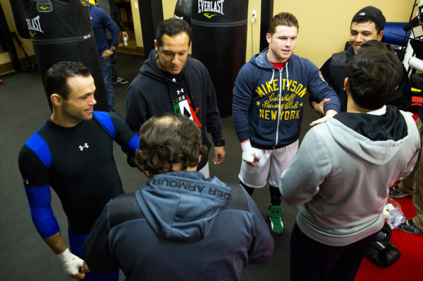 Canelo and Ricardo get hands wrapped