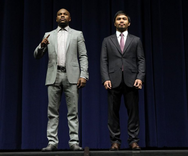Floyd mayweather and manny pacquiao hold la press conference | round