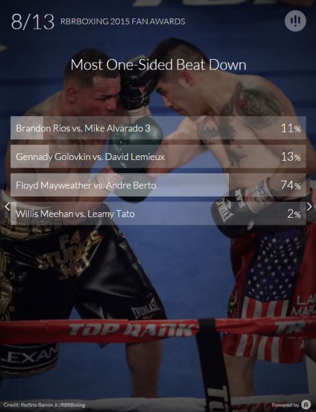 Most One-Sided Beat Down - Fan Awards