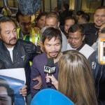 Pacquiao vs. Bradley: Manny Pacquiao & Freddie Roach Arrive in LA