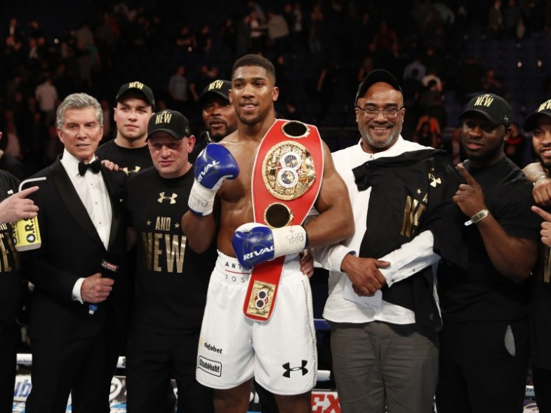 Boxing - Charles Martin v Anthony Joshua IBF Heavyweight Title - O2 Arena, London - 9/4/16Anthony Joshua celebrates his winAction Images via Reuters /Andrew CouldridgeEDITORIAL USE ONLY.