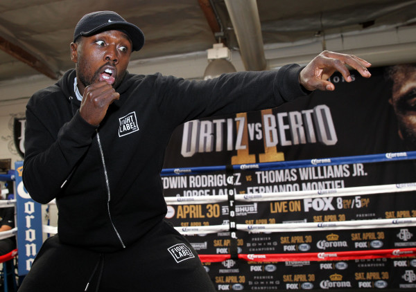 Andre Berto - Ortiz_Berto Fight Week Workouts _Workout_ Chris Farina_TGB Promotions_Premier Boxing Champions