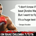 """Sergey Kovalev on GGG: """"Anyone Who Comes to Light Heavyweight, I'll Face Him"""""""