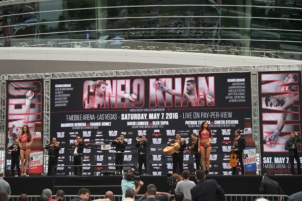 Canelo Khan Weigh In - Shelbi Keyes RBRBoxing