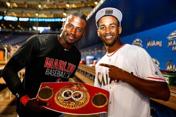 Rances Barthelemy throws out first pitch at Marlins Game - June 2_ 2016_Behind the scenes_Stephanie Trapp _ Mayweather Promotions