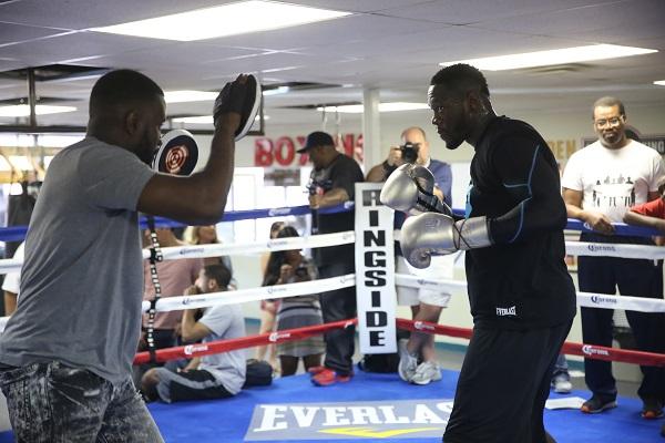 PBC on FOX 7.16.2016 - Media Workouts_Workout_Jennifer Hagler _ DiBella Entertainment _ Premier Boxing Champions