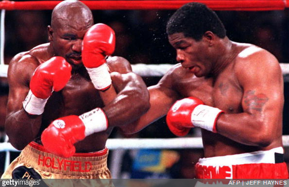 Riddick Bowe vs. Evander Holyfield 3 - AFP Jeff Haynes Getty Images