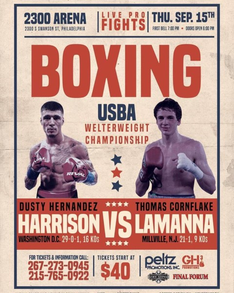 Dusty Hernandez Harrison vs. Thomas Lamanna Poster