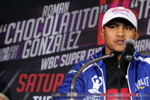 """Sept. 6, 2016 , Los Angeles, Ca. ---   #1 Pound-for-Pound Fighter in the World and WBC Flyweight World Champion Roman """"Chocolatito"""" Gonzalez, (45-0-0, 38 KOs) and Undefeated WBC Super Flyweight World Champion Carlos """"Principe"""" Cuadras, (35-0, 38 KOs) attend  the final press conference ahead of their world title main event on Saturday, September 10 at The Fabulous Forum in Los Angeles, live on HBO World Championship Boxing ®.    Featured in the co-main event following their epic 2016 """"Fight of the Year"""" candidate this past April 15 at the Belasco Theater in Los Angeles, Jesus Soto Karass will once again battle Yoshihiro Kamegai, (26-3-2, 23KOs) in a 10-round junior middleweight clash. The first clash resulted in a split decision draw. Both bouts will be televised live on HBO World Championship Boxing beginning at 10:00 p.m. ET/PT.   Tickets for this outstanding evening of professional boxing priced at $300, $200, $100, $50 and $25 are now on sale through Ticketmaster (Ticketmaster.com, 1-800-745-3000) and the Forum Box Office.    Gonzalez vs. Cuadras is presented by K2 Promotions in association with Teiken Promotions.  Kamegai vs. Soto-Karass 2 is presented by Golden Boy Promotions and Teiken Promotions.  ---   Photo Credit : Chris Farina -  K2 Promotions"""