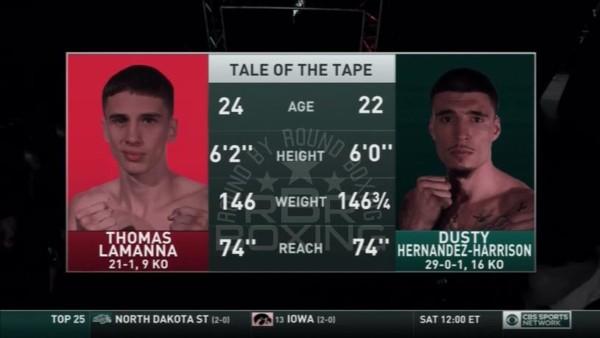Dusty Hernandez Harrison vs. Thomas LaManna