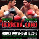 Mauricio Herrera Takes on Pablo Cesar Cano November 18