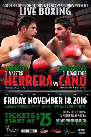 Mauricio Herrera vs. Pablo Cesar Cano