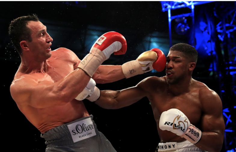 Anthony Joshua stops Wladimir Klitschko in 11th round at Wembley Stadium