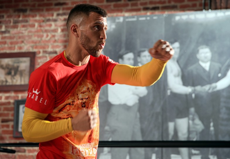 Vasyl Lomachenko retains WBO super-featherweight title with Miguel Marriaga stoppage