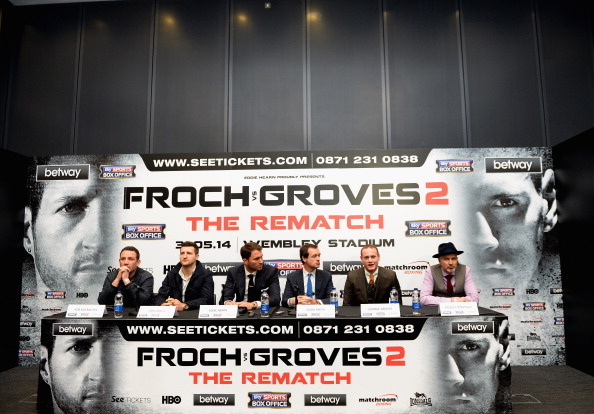 Carl Froch v George Groves - Wembley Press Conference Laurence Griffiths