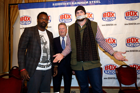 Dereck Chisora And Tyson Fury Press Conference Jordan Mansfield/Getty Images
