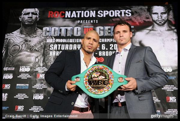 Cotto vs. Geale Craig Barritt Getty Images