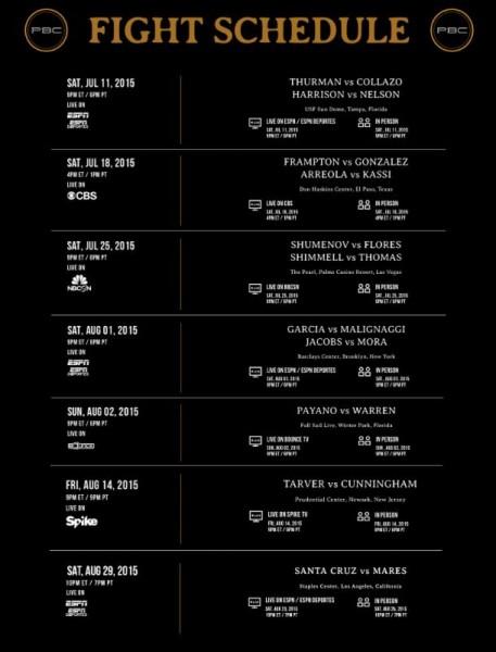 PBC Summer Schedule