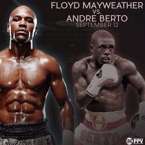 Floyd Mayweather Vs. Andre Berto Official For Sept. 12