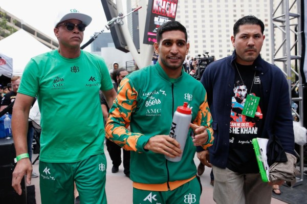Canelo Alvarez v Amir Khan - Weigh-in