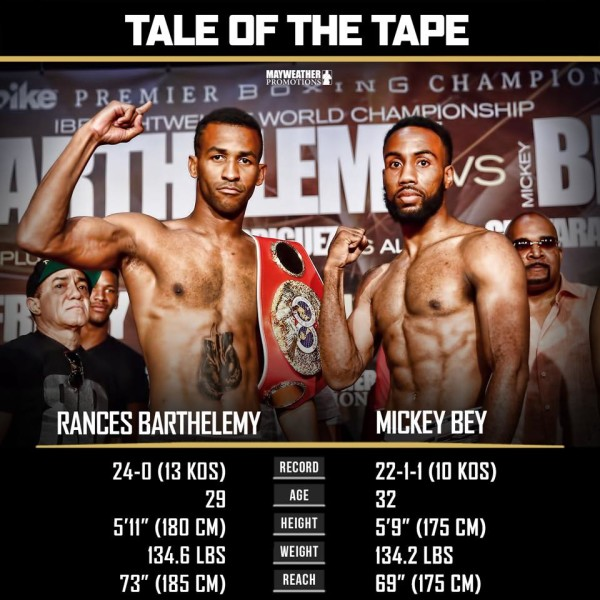Barthelemy vs. Bey Weigh In - Stephanie Trap
