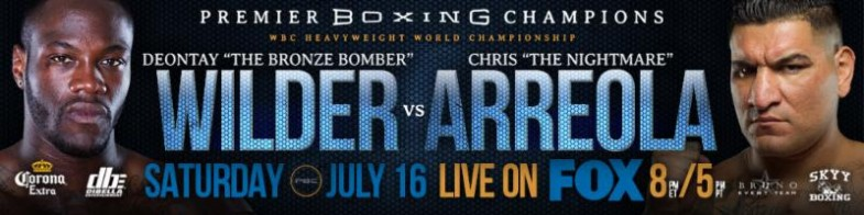 Deontay Wilder vs. Chris Arreola Banner