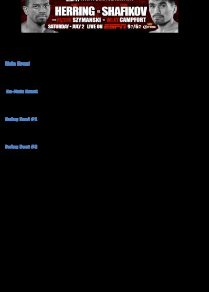 Herring vs. Shafikov
