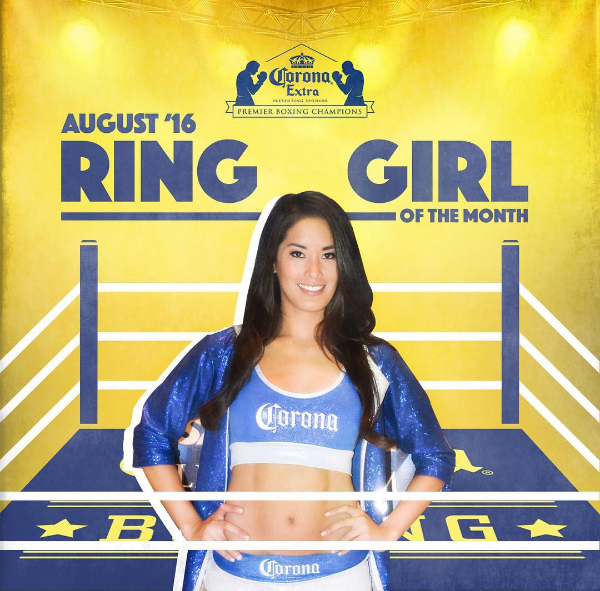 Corona Boxing Ring Girl
