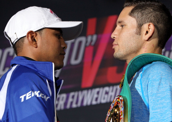 "Sept. 6, 2016 , Los Angeles, Ca. ---   #1 Pound-for-Pound Fighter in the World and WBC Flyweight World Champion Roman ""Chocolatito"" Gonzalez, (45-0-0, 38 KOs) and Undefeated WBC Super Flyweight World Champion Carlos ""Principe"" Cuadras, (35-0, 38 KOs) attend  the final press conference ahead of their world title main event on Saturday, September 10 at The Fabulous Forum in Los Angeles, live on HBO World Championship Boxing ®.   Featured in the co-main event following their epic 2016 ""Fight of the Year"" candidate this past April 15 at the Belasco Theater in Los Angeles, Jesus Soto Karass will once again battle Yoshihiro Kamegai, (26-3-2, 23KOs) in a 10-round junior middleweight clash. The first clash resulted in a split decision draw. Both bouts will be televised live on HBO World Championship Boxing beginning at 10:00 p.m. ET/PT.  Tickets for this outstanding evening of professional boxing priced at $300, $200, $100, $50 and $25 are now on sale through Ticketmaster (Ticketmaster.com, 1-800-745-3000) and the Forum Box Office.    Gonzalez vs. Cuadras is presented by K2 Promotions in association with Teiken Promotions.  Kamegai vs. Soto-Karass 2 is presented by Golden Boy Promotions and Teiken Promotions.  ---   Photo Credit : Chris Farina -  K2 Promotions"
