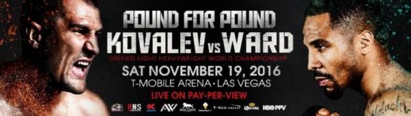 Sergey Kovalev vs. Andre Ward Banner