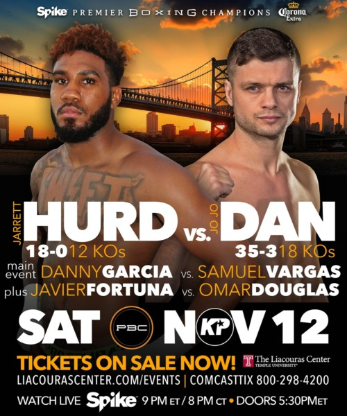 """Swift"" Jarrett Hurd To Face Jo Jo Dan On Garcia Vs"