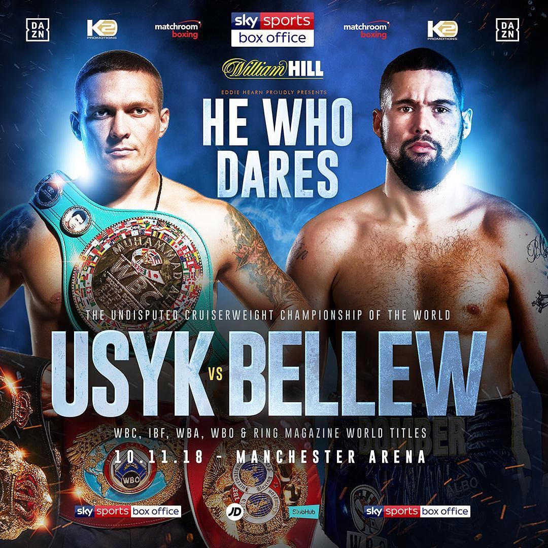 Usyk Vs. Bellew Set For November 10 At Mancheter Arena