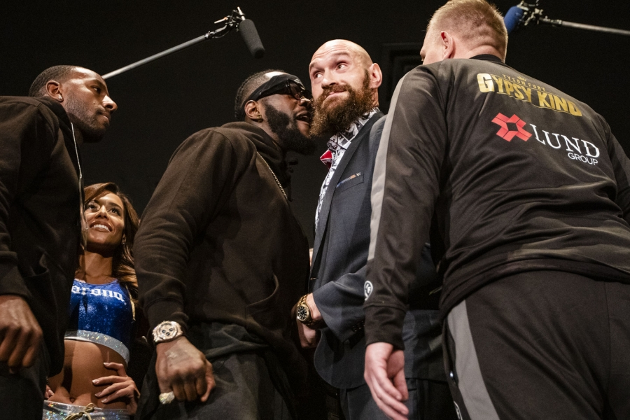 Fury sees 'very nervous' Wilder as pair nearly come to blows