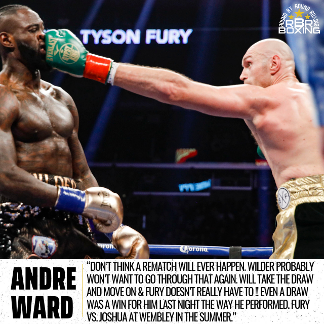 Wilder Vs. Fury 2? Andre Ward Doesn't Think So