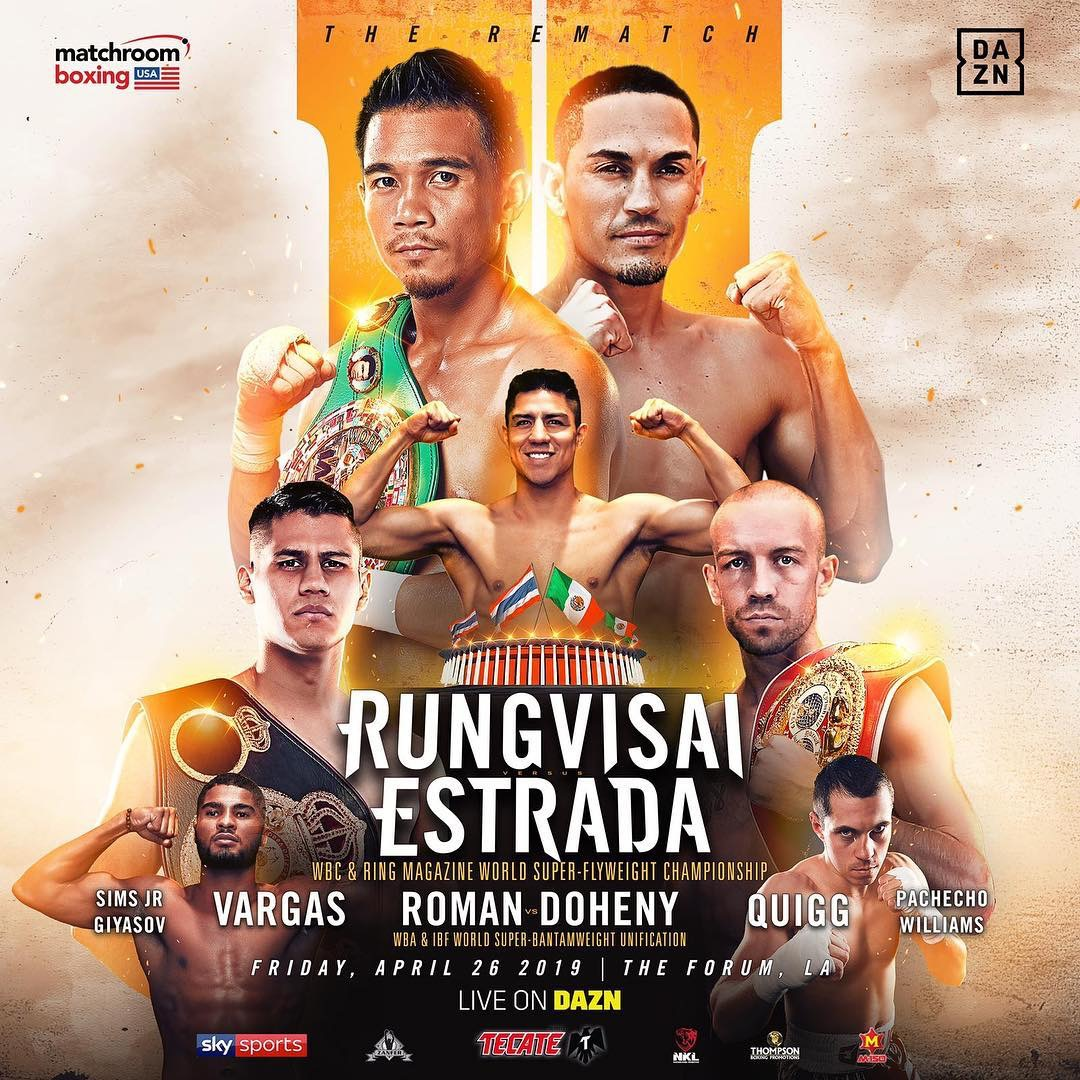Rungvisai Vs. Estrada Rematch Set For April 26 On DAZN