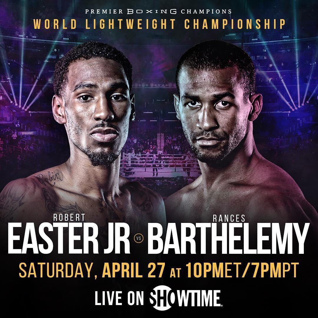 Robert Easter Jr. vs . Rances Barthelemy