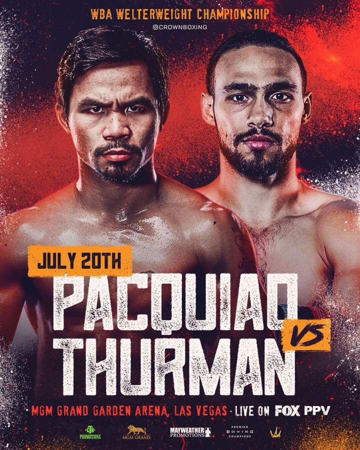 Pacquiao Vs. Thurman Set For July 20 On Fox PPV