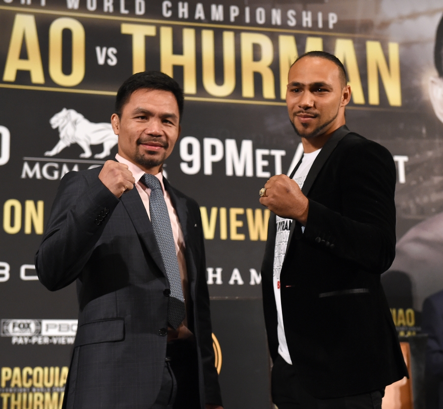 Pacquiao beats Thurman, wins WBA welterweight title