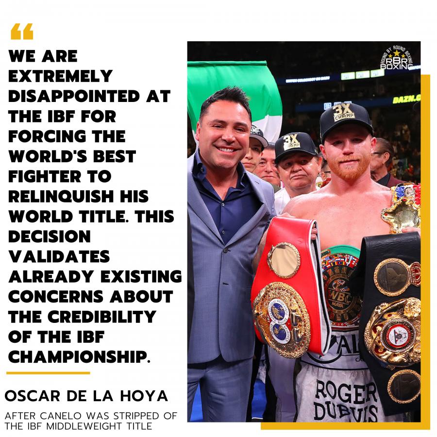Canelo Alvarez IBF Title