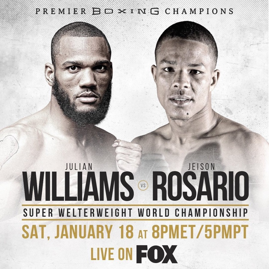 Image result for julian williams vs jeison rosario poster