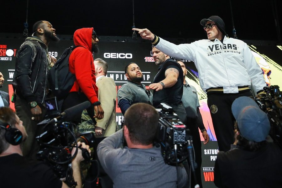 Wilder and Fury Push and Shove at Final Press Conference