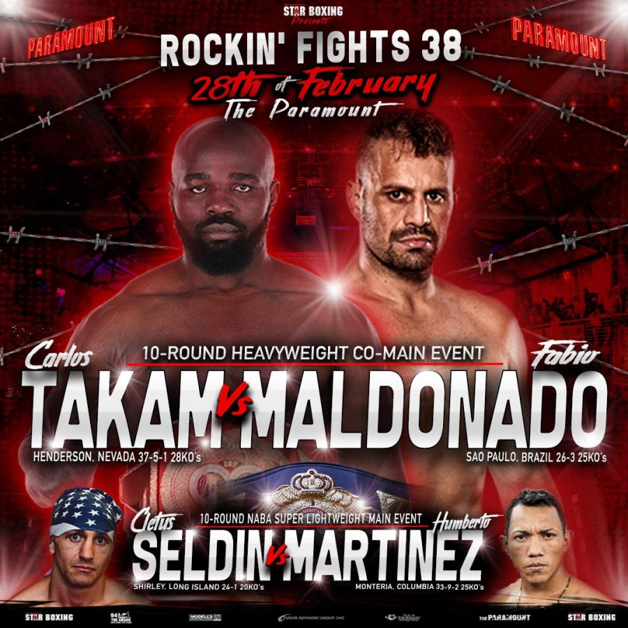 "Carlos Takam Added to February 28 ""Rockin' Fights"""