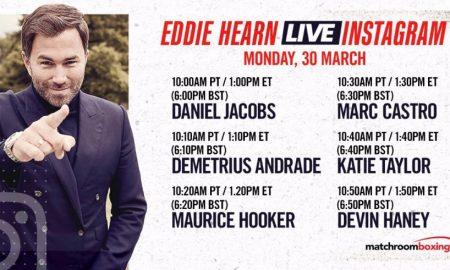 Eddie Hearn Instagram Live