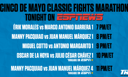 ESPNEWS to Air Encore Presentation Featuring Some of Boxing's Greatest Grudge Matches
