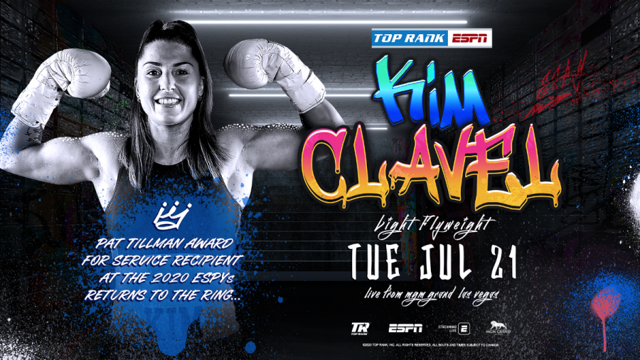 Undefeated light flyweight boxer Kim Clavel