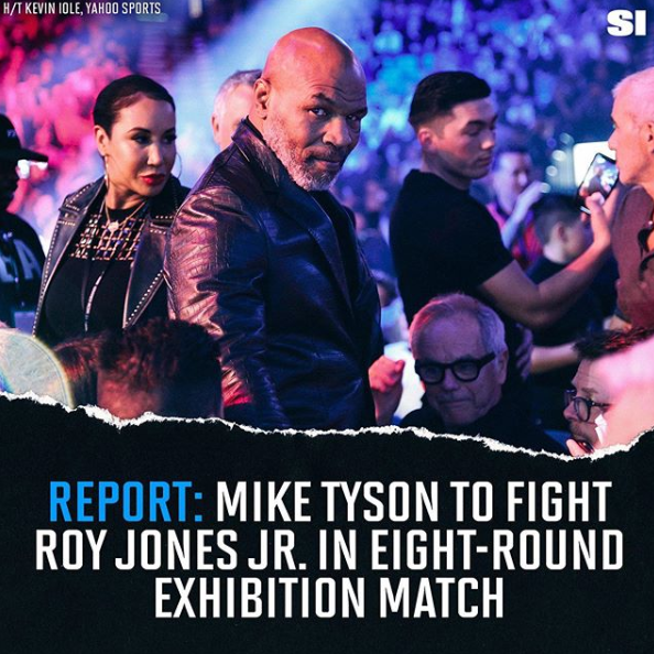 all time greats mike tyson and roy jones jr set to collide in 8 round exhibition round by round boxing roy jones jr set to collide