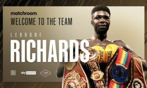 Lerrone Richards Signs With Matchroom Boxing
