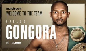 Matchroom Sign IBO Titleholder Carlos Gongora