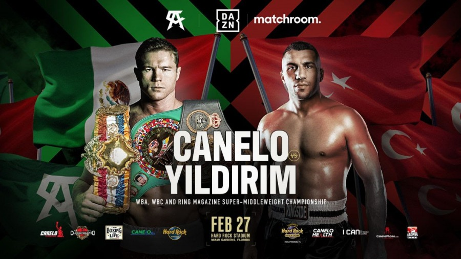Canelo Defends Super Middleweight Titles Against Avni Yildirim in Miami