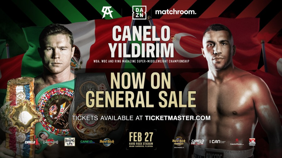 Tickets for Canelo Alvarez vs. Avni Yidirim on Sale